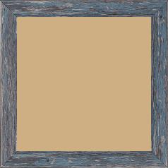 Cadre bois profil arrondi en pente plongeant largeur 2.4cm couleur bleu pétrole finition veinée, reflet argenté - 70x90