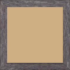 Cadre bois profil arrondi en pente plongeant largeur 2.4cm couleur gris  finition veinée, reflet argenté - 15x20