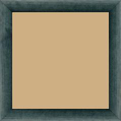 Cadre bois profil arrondi en pente plongeant largeur 2.4cm couleur bleu turquoise foncé finition vernis brillant,veine du bois  apparent (pin) , - 70x90