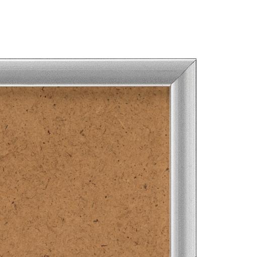 Cadre cadre aluminium dimensions 50x75cm profil méplat de largeur 9mm épaisseur 2,1cm de couleur argent mat complet (plexi normal + attache de suspension dans les 2 sens serties dans l'isorel) tournettes rivetées dans l'isorel pour une mise en place du sujet très rapide et très simple. cadre livré unitairement sous film de protection. - 50x75