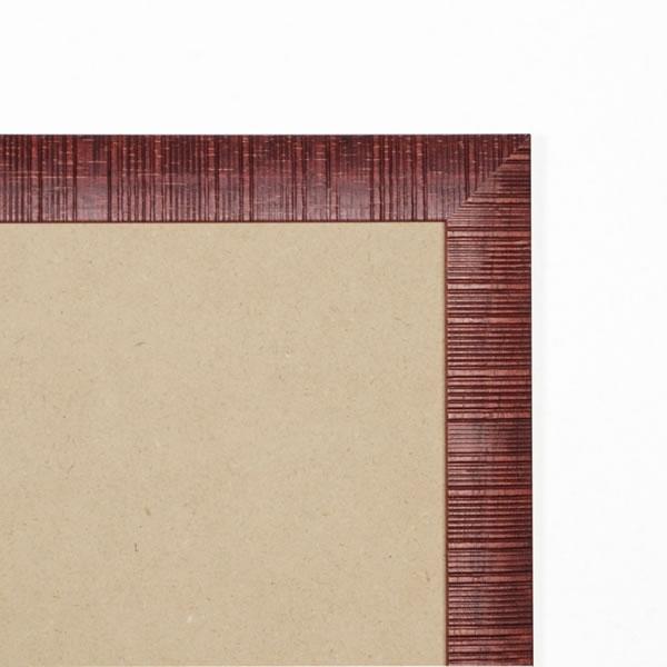 Cadre cadre bois profil plat en pente largeur 30mm complet de couleur bordeaux strié dimensions 15x20 cm, à poser ou à suspendre horizontalement ou verticalement. verre normal, mise en place du sujet dans le cadre simple et rapide, ouverture et fermeture du cadre par pointes flexibles. fond en isorel. - 15x20