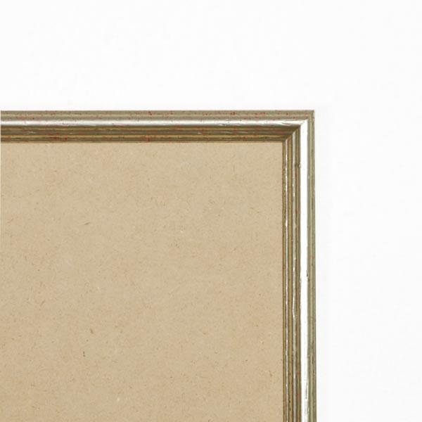Cadre cadre bois profil arrondi largeur 15mm complet de couleur argent antique dimensions 15x15 cm, à suspendre. verre normal, mise en place du sujet dans le cadre simple et rapide, ouverture et fermeture du cadre par pointes flexibles. fond en isorel. - 15x15